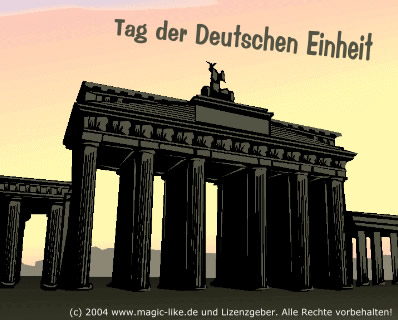Tag der deutschen Einheit.
