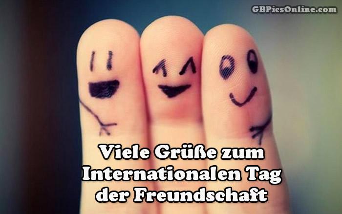 Viele Grüße zum Internationalen Tag der Freundschaft