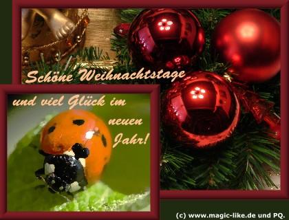 Schöne Weihnachtstage und...