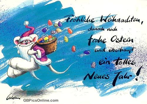 Fröhliche Weihnachten, danach noch...