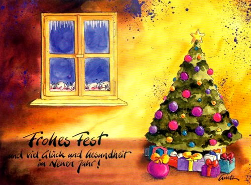 Frohes Fest und viel Glück und...