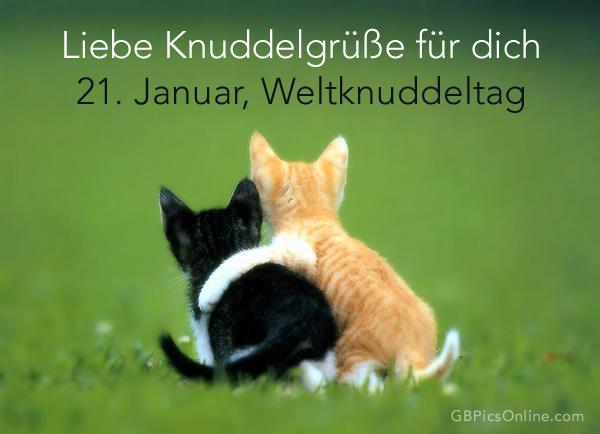 Liebe Knuddelgrüße für dich 21. Januar, Weltknuddeltag